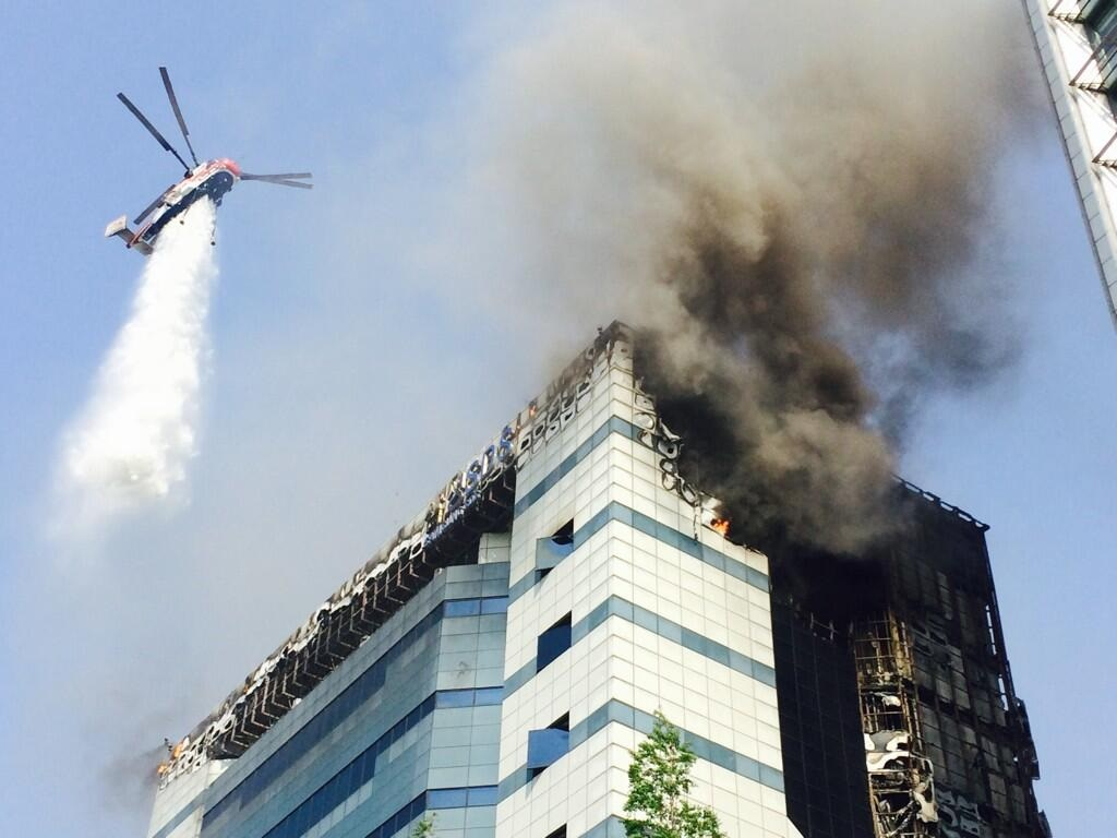 samsung Datacenter engulfed in fire