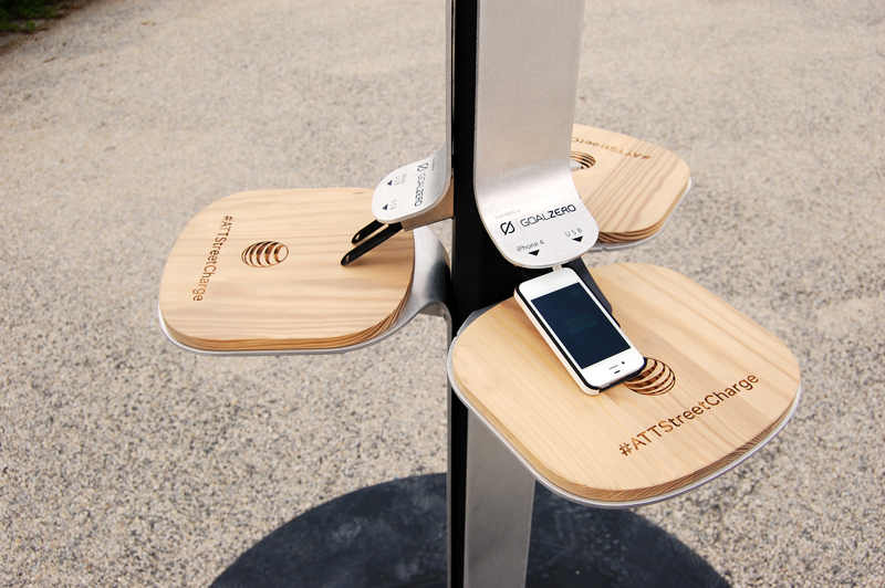 Free solar mobile charging stations are being placed in select l