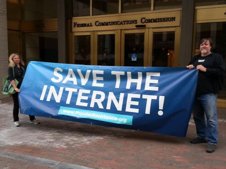 Popular Resistance protesting outside the FCC