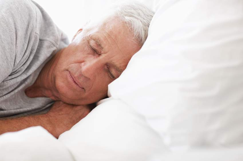 elderly sleeping senior
