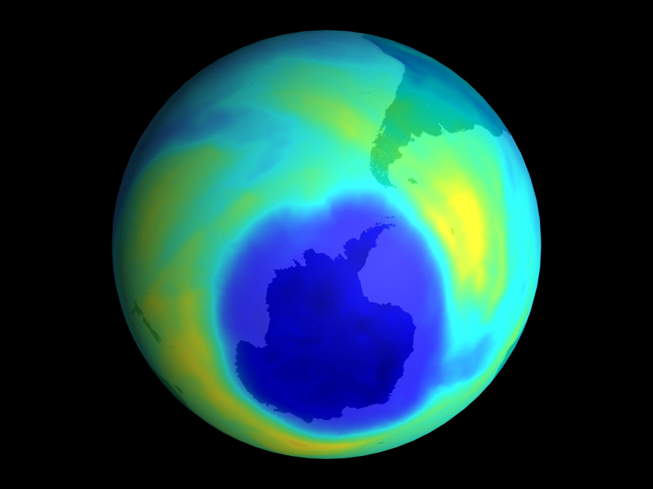 The ozone layer is starting to heal up
