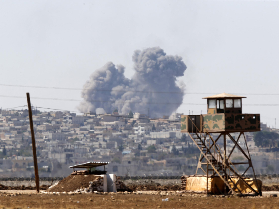 air-strikes-over-kobani