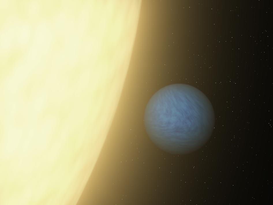 Artist's concept of the planet 55 Cancri e