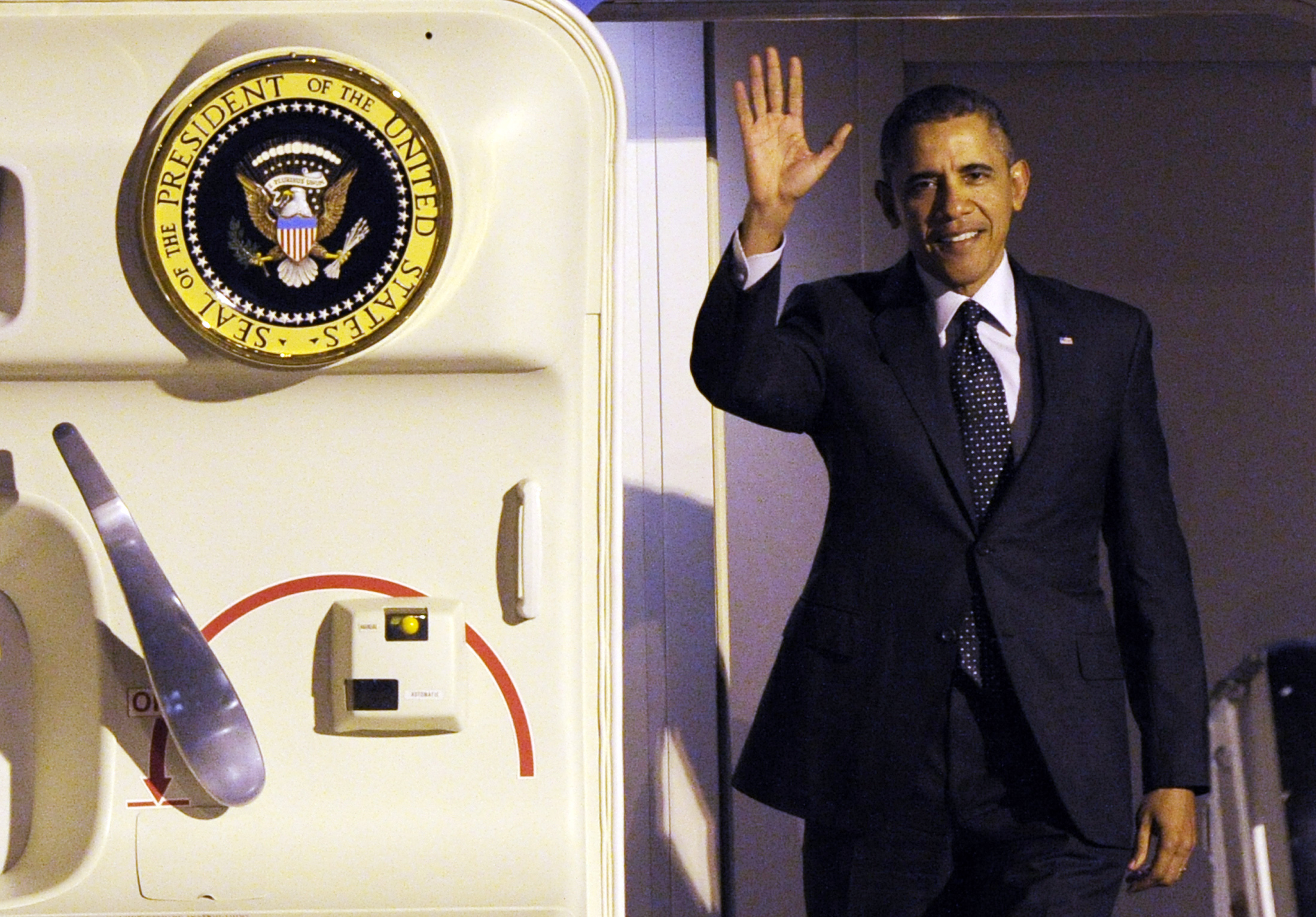 U.S. President Obama arrives at Brussels Airport
