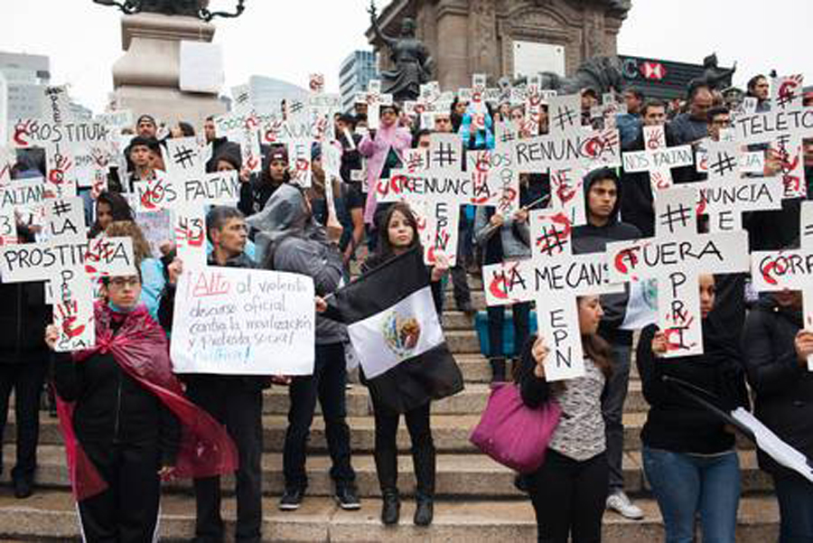 protest against missing Mexican students
