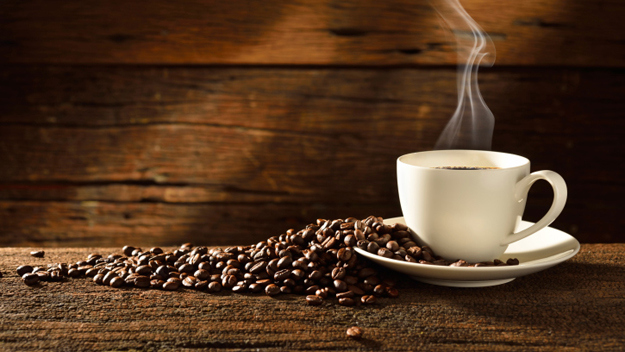 Coffee  The caffeine increases blood flow, boosts heart rate, and increases stamina.  (Photo Credit: Thinkstock)