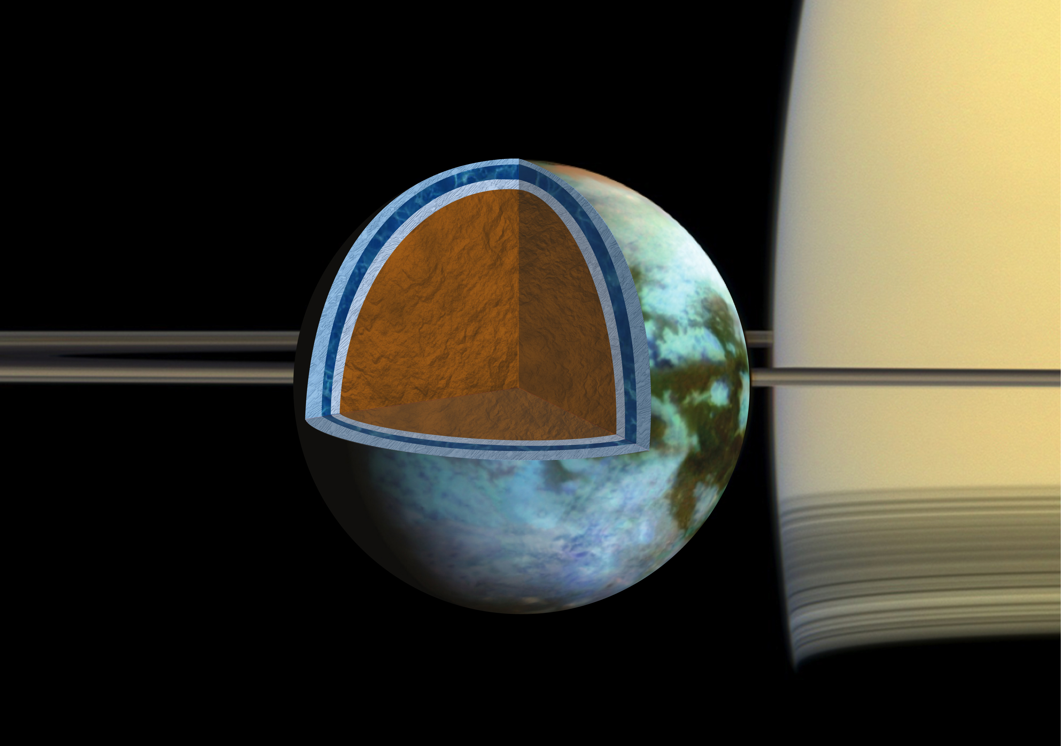 Ocean on Saturn Moon Could be as Salty as the Dead Sea, study reveals