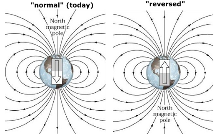 earth magnetic field might flip