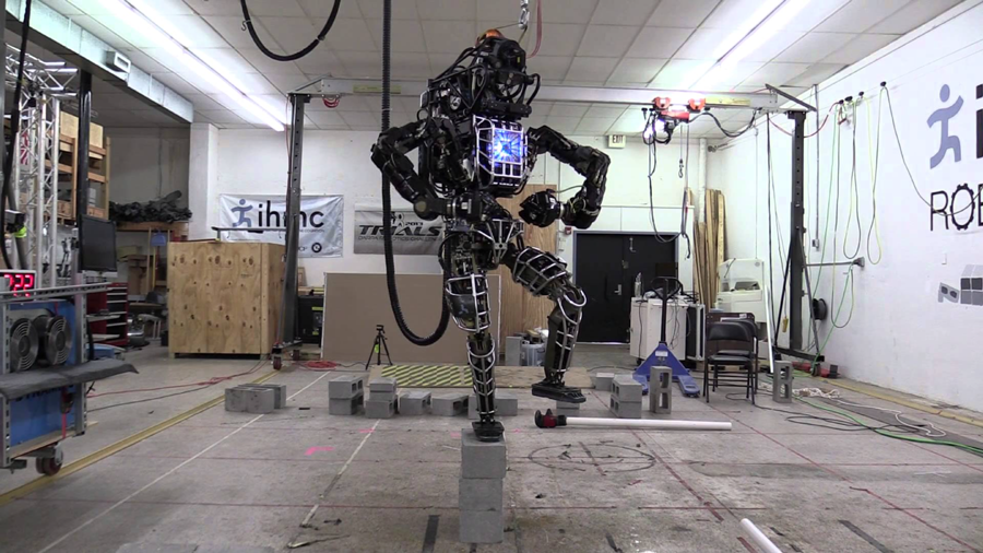 Robot Ian or Atlas Robot created by Google owned Boston Dynamics