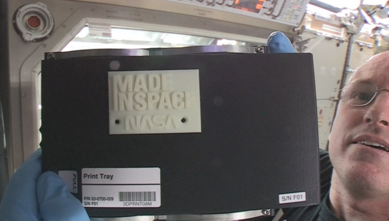 First successful 3D printing completed by astronauts aboard ISS